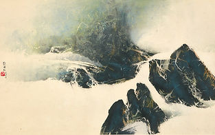 Liu Guosong Contemplation of Rocks, 1966