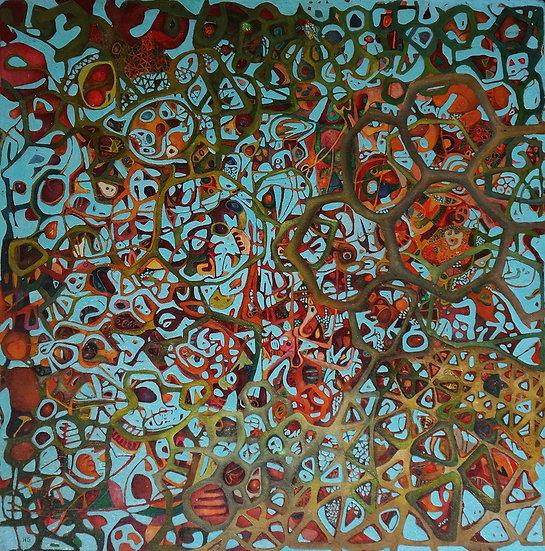 Garden of Eden, 1985, Oil on Panel