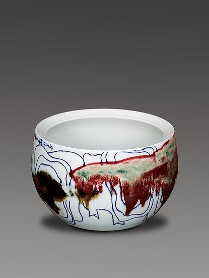 Jar with Bull Pattern, 2016, Ceramics