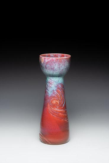 High-Stemmed Flower Vase, 2018, Ceramics