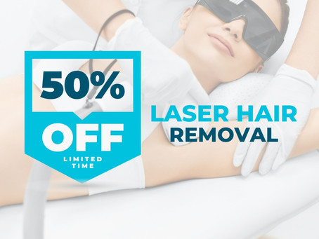 50% OFF Laser Hair Removal with Code: LASER21