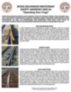 WCRG Excursion Particpant Safety Advisor
