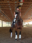 Michigan Dressage Lessons and Training in our indoor arena with all new GGT footing.