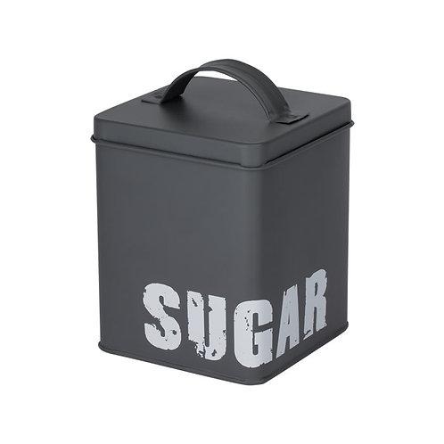Lata Porta Açúcar Cinza