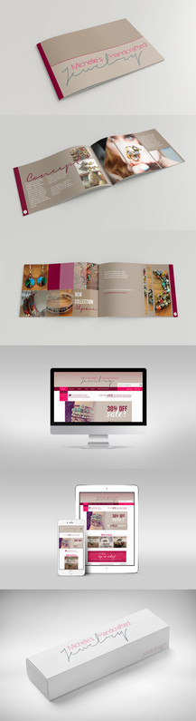 Brand book and jewely box designed for handmade jewelry company