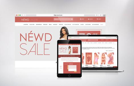 Website / Company concept  for a lingerie line