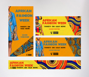 Web Banners created to promote fashion week