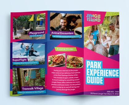 Park brochure design for Jungle Island