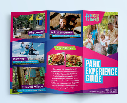 Park brochure design for Jungle Island