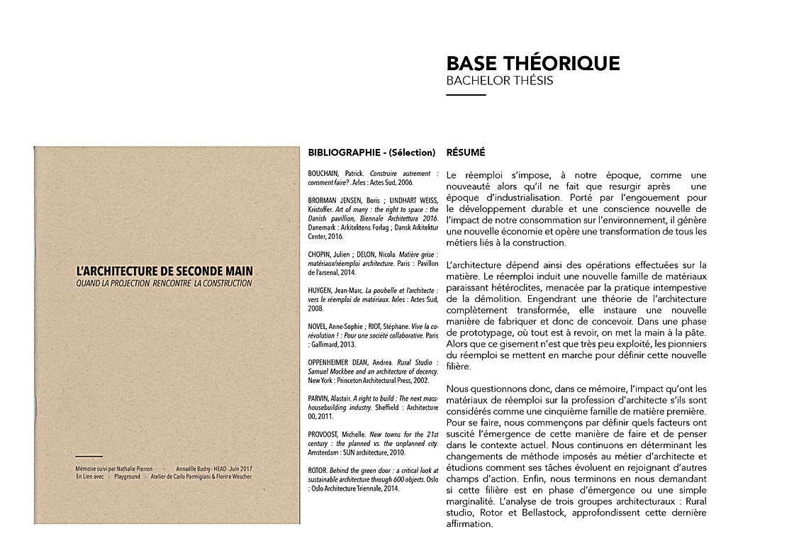 mémoire bachelor architecture de seconde main - quand la projection rencontre la construction réemploi bellastock rotor rural studio umlaut architecture di'intérieur annaelle budry