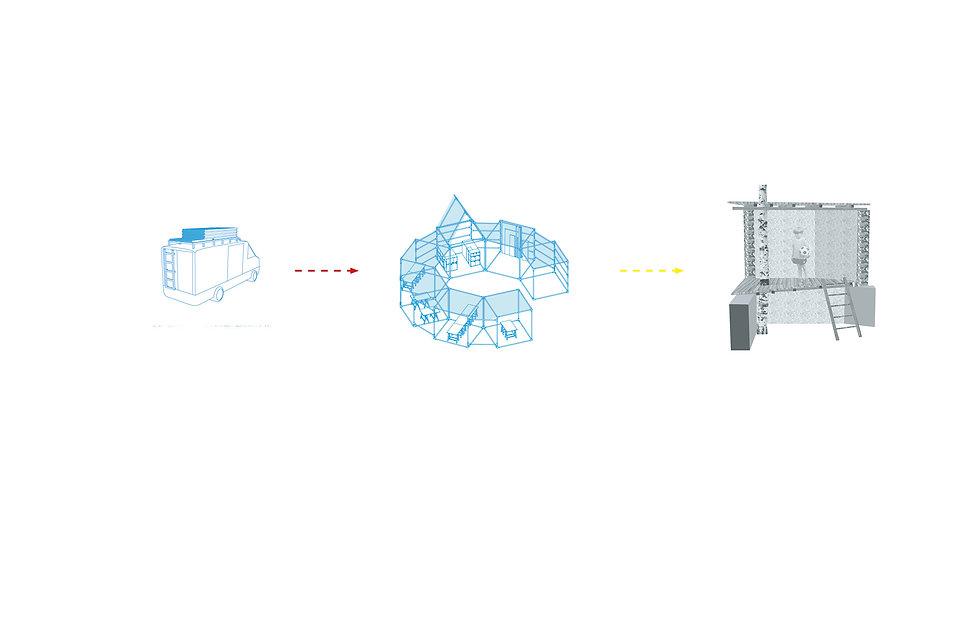 débarquement urbain dent creuse collge modélisation 3D réemploi architecture d'intérieur umlaut annaelle budry