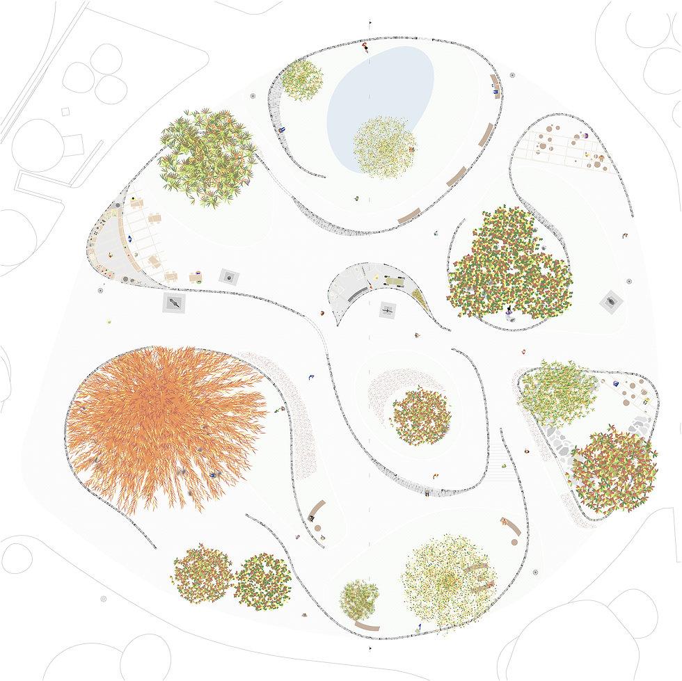 plan illustrator archicad contemplative space espace contemplatif parc umlaut architecture d'intérieur annaelle budry capbreton aquitaine landes