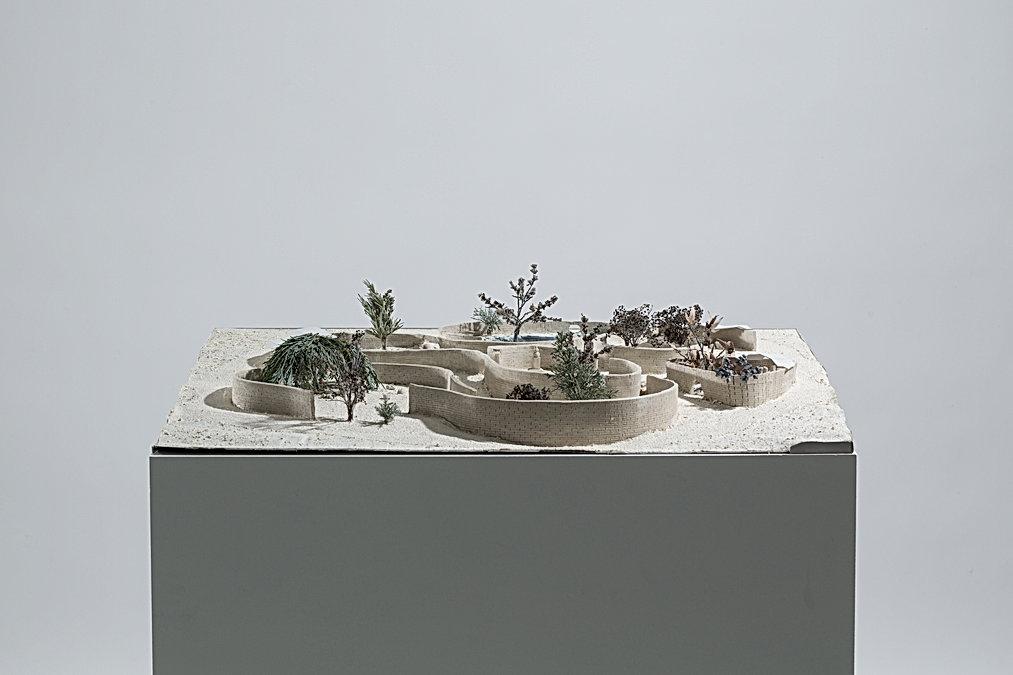contemplatve space espace contemplatif jardin maquette parc umlaut architecture d'intérieur annaelle budry capbreton aquitaine landes