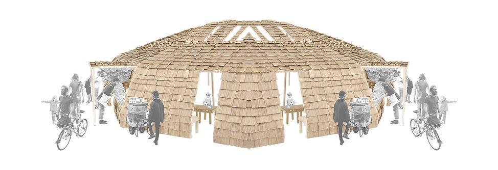 capbreton wood in progress expérimentation matière bois réemploi umlaut architecture d'intérieur annaelle budry maquette collage