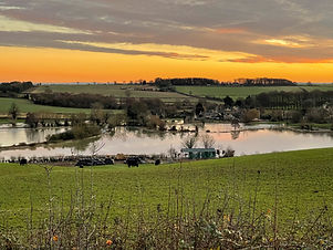 Asthall in flood by Pete Freeman