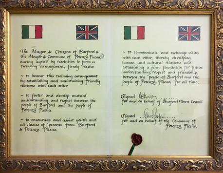 Twinning Certificate