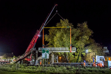A40 Footbridge Demolished