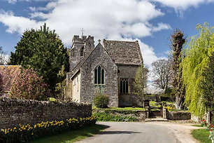 Spring in Asthall by Derek Cotterill