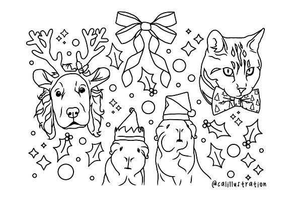 xmas pet portrait colouring page.jpg