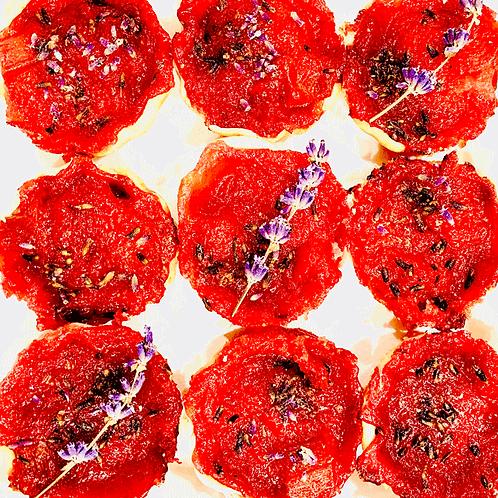 Lavender Strawberry Rhubarb Bites