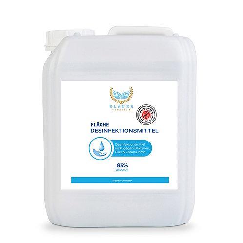 FLÄCHENDESINFEKTIONSMITTEL Blauer Schutz mit ALKOHOL ( 83% ) - 5 Liter