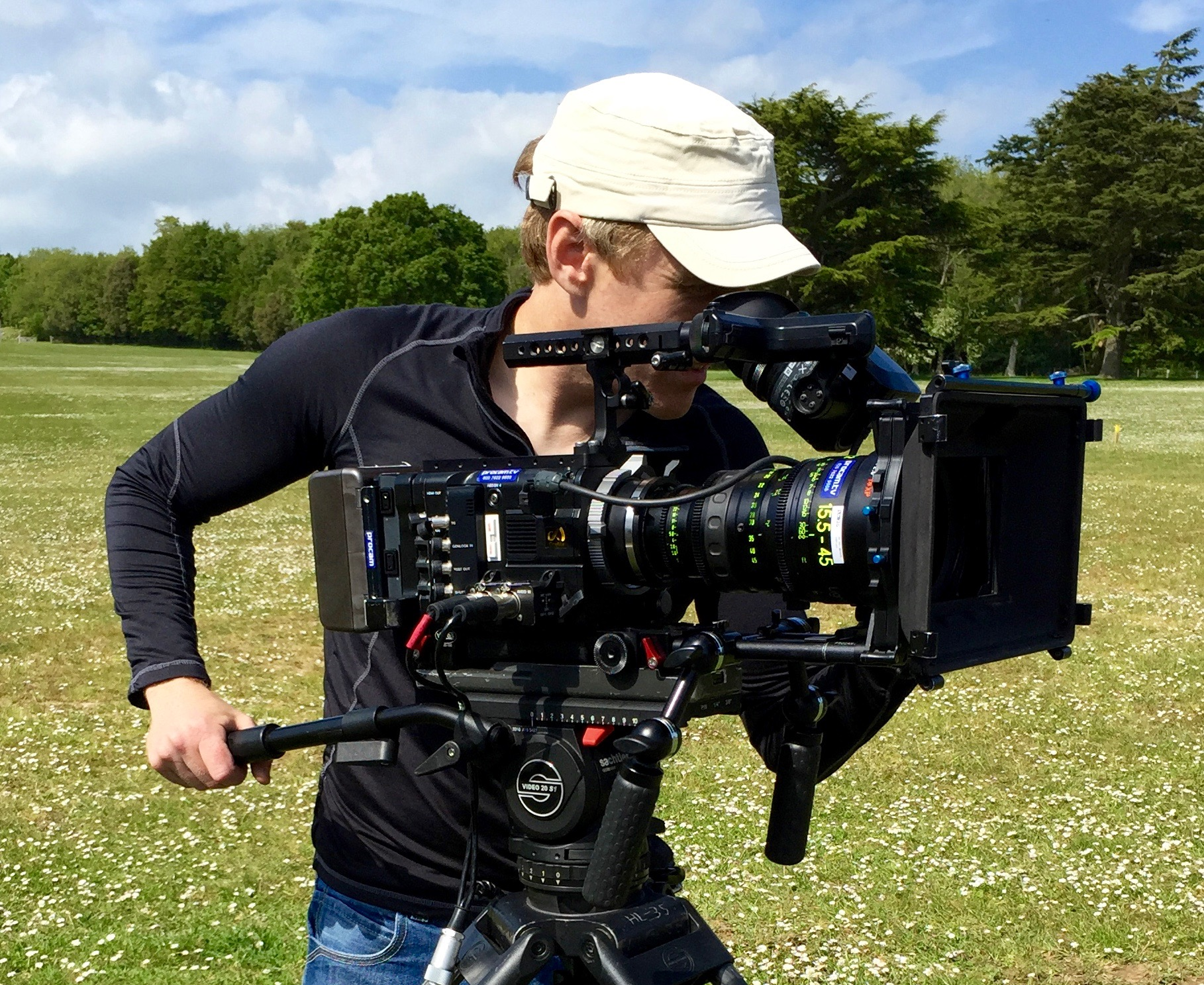 Filming on the F55 at Goodwood