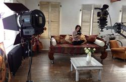 Yoga DVD filming in studio with IMC