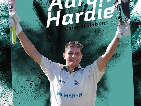 Aaron Hardie scored maiden 100