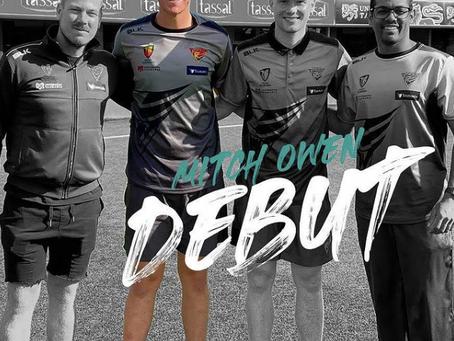 Mitch Owen debuts for Tasmania