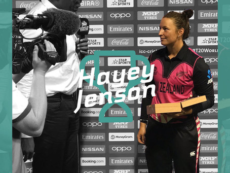Hayley Jensen wins POTM award for NZ in T20 WC