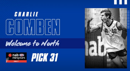 Charlie Comben drafted to NMFC - Pick #31