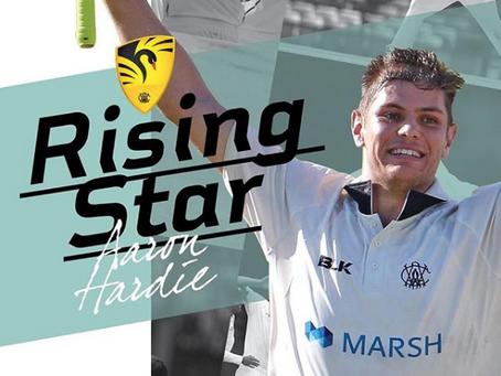 Aaron Hardie wins WACA Rising Star Award