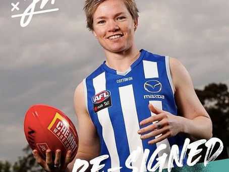 Well done Jess Duffin on resigning with the Roos