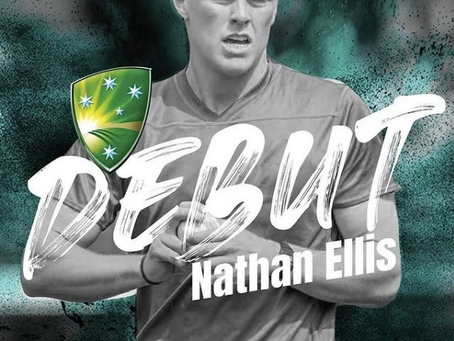 Nath Ellis debuts for Australia (and takes a hat-trick)