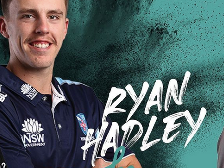 Ryan Hadley resigns with Cricket NSW