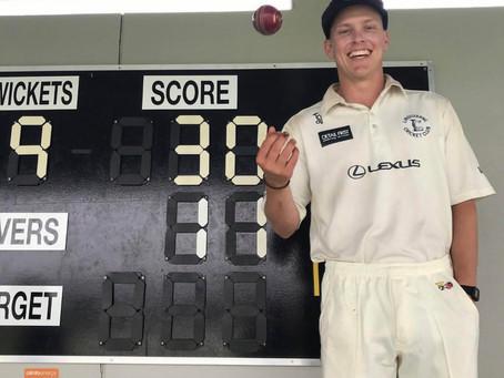 Nath Ellis takes 9fa in Tassie Grade Game