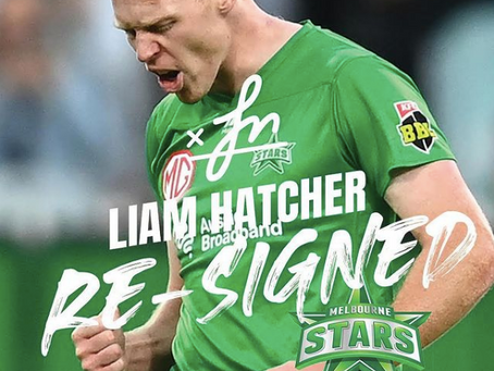Liam Hatcher resigns with the Stars