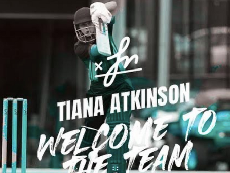 Welcome to the team Tiana Atkinson