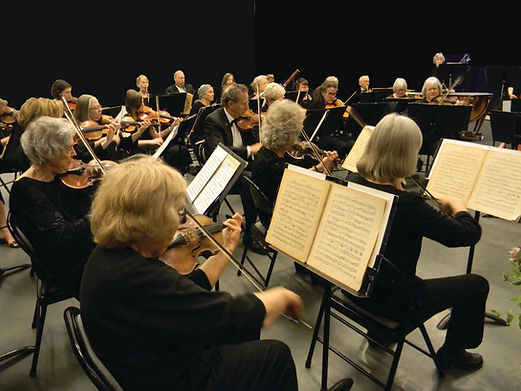OLLI Orchestra string section in concert