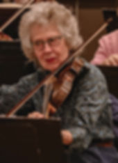 Beverly Marks plays violin in OLLI Orche