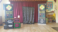 GRaveney Primary School road safety show, Road safety show, road safety magic show, magic show, school show, theatre in education, david tricks road safety school show, children's entertainer, safety show, stop look listen think, road safety week, educational show, magician,