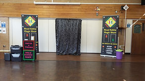st james infant school, road safety show, road safety magic show,