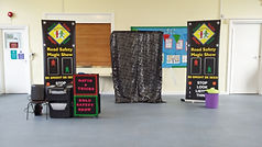Road safety show, road safety magic show, magic show, school show, theatre in education, david tricks road safety school show, children's entertainer, safety show, stop look listen think, road safety week, educational show, magician,