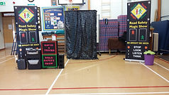 road safety show deal parochial c of e, Road safety show, road safety magic show, magic show, school show, theatre in education, david tricks road safety school show, children's entertainer, safety show, stop look listen think, road safety week, educational show, magician,