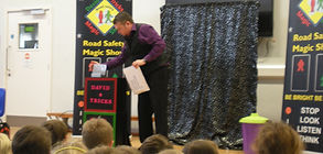 road safety show, safety show, road safety magic show