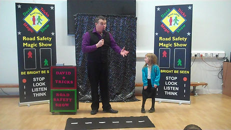 Road Safety Show, Road safety Magic show, School road safety show, Magic road safety show