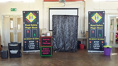 road safety show dallington c of e school, Road safety show, road safety magic show, magic show, school show, theatre in education, david tricks road safety school show, children's entertainer, safety show, stop look listen think, road safety week, educational show, magician,