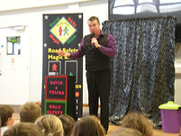 road safety magic show, road safety show, david tricks road safety show, school magic show,