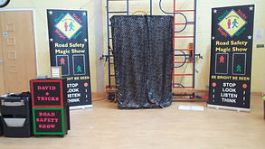 pound hill crawley infant academy road safety show, road safety show, road safety magic show