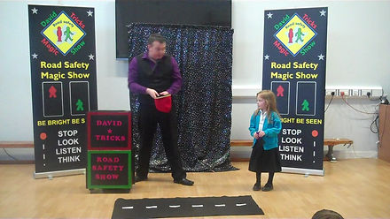 road safety show Surrey, Surrey road safety show, road safety magic show in Surrey